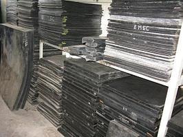 Пластины резиновые МБС, формовые 700х700 мм