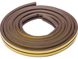 Уплотнитель резиновый самоклеящийся Зубр 40930-006 (профиль D, коричневый, 6м)