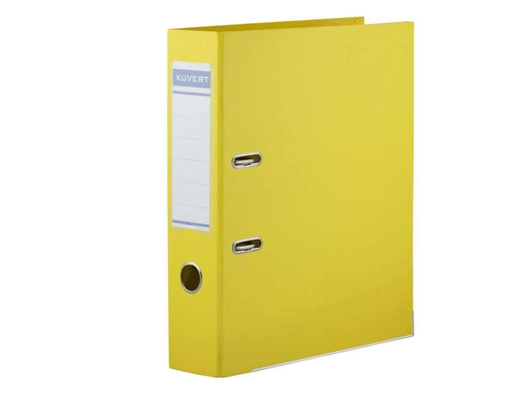 Папка-регистратор KUVERT А4, ширина 50 мм, желтые