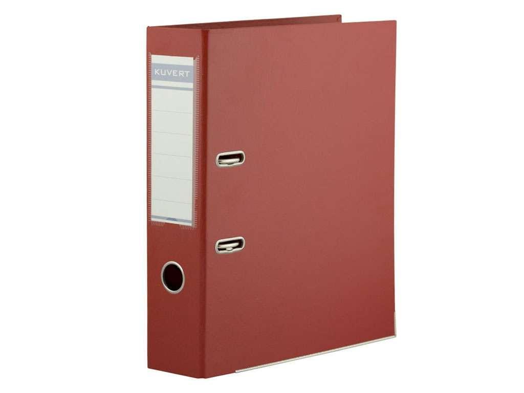 Папка-регистратор KUVERT А4, ширина 72 мм, красные