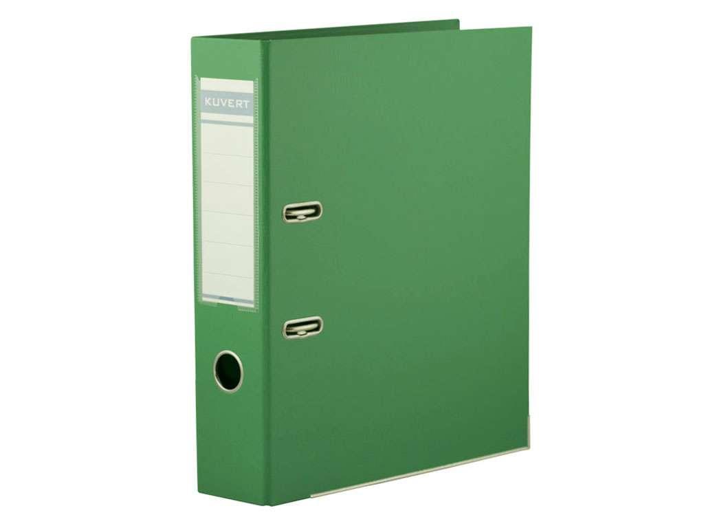 Папка-регистратор KUVERT А4, ширина 50 мм, зеленые