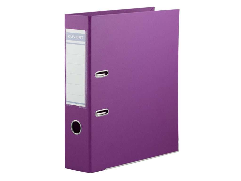 Папка-регистратор KUVERT А4, ширина 72 мм, фиолетовые