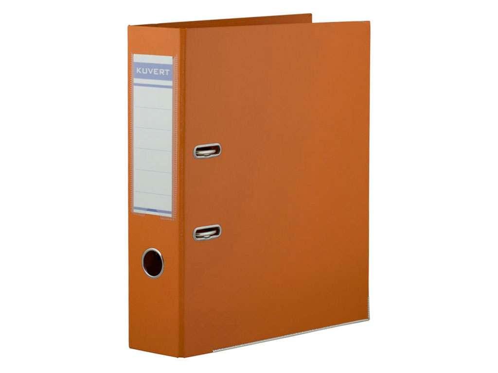 Папка-регистратор KUVERT А4, ширина 72 мм, оранжевые