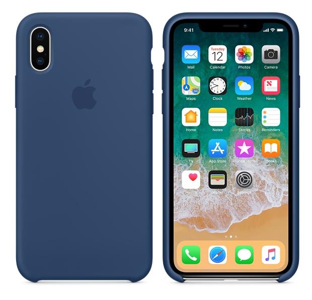 Силиконовый чехол для iPhone X/ iPhone 10 (тёмный кобальт)