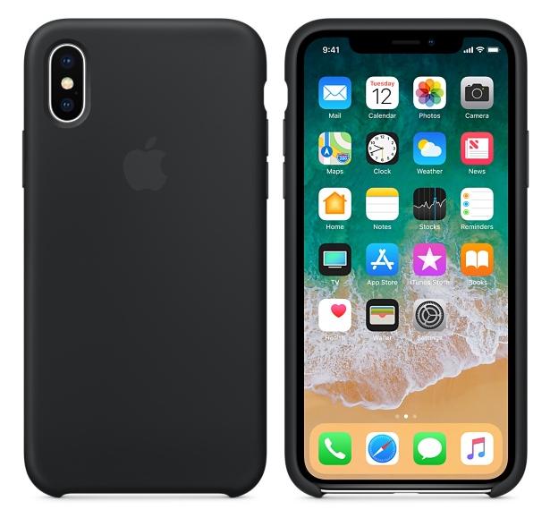 Силиконовый чехол для iPhone X/ iPhone 10 (темно-серый)