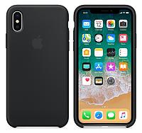 Силиконовый чехол для iPhone X/ iPhone 10 (темно-серый), фото 1