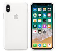 Силиконовый чехол для iPhone X/ iPhone 10 (белый)
