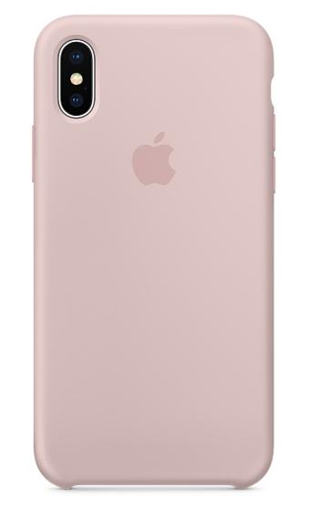 Силиконовый чехол для iPhone X/ iPhone 10 (розовый песок) - фото 2