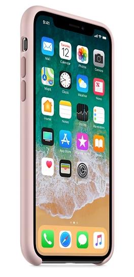 Силиконовый чехол для iPhone X/ iPhone 10 (розовый песок) - фото 3