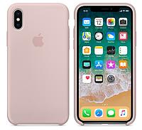 Силиконовый чехол для iPhone X/ iPhone 10 (розовый песок)