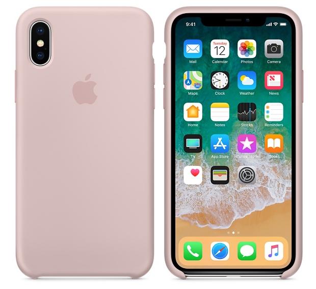 Силиконовый чехол для iPhone X/ iPhone 10 (розовый песок) - фото 1