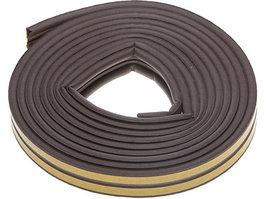 Уплотнитель резиновый самоклеящийся Зубр 40932-006 (профиль P, коричневый, 6м)