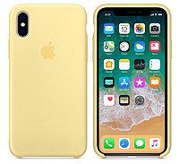 Cиликоновый чехол для iPhone X/ iPhone 10 (желтый), фото 1