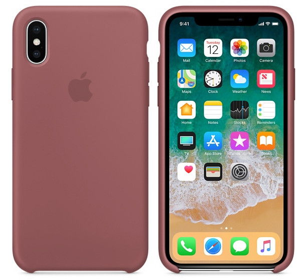 Cиликоновый чехол для iPhone X/ iPhone 10 (морковный)