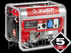 Генератор бензиновый, ЗУБР ЗЭСБ-1200, 4-х тактный, ручной пуск, 1200/1000 Вт, 220 В
