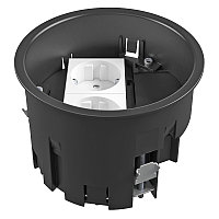 Монтажная коробка для лючка GES R2, 120х85 мм (с 2 розетками 250В 16A, полиамид) MT R2 VDE, фото 1