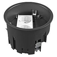 OBO Bettermann Монтажная коробка для лючка GES R2 120х85 мм (с розеткой VDE, полиамид), фото 1