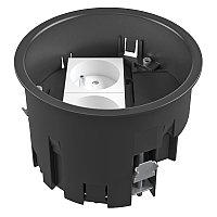 Монтажная коробка для лючка GES R2, 120х85 мм (с французской розеткой NF, полиамид) MT R2 NF, фото 1