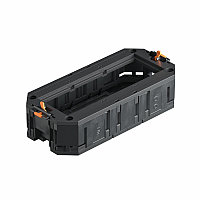 Монтажная коробка UT3 для установки 3xModul45 в лючок, с накладкой (полиамид, черный) UT3 45 3, фото 1