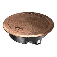 Лючок GES R2, пылевлагостойкий IP66, IK10, 40х140 мм (состаренная медь) GES R2 Cu, фото 1
