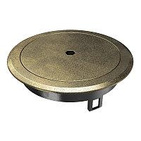 Лючок GES R2B пылевлагостойкий IP66, IK10, 40х140 мм (латунный) с ключом GES R2B CuZn, фото 1