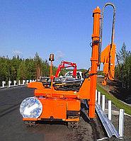 Установка дорожного ограждения (11ДО и 11ДД, криволинейный брус)