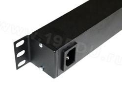 Блок питания на 8 розеток 1U-PDU-RACK (алюминиевый корпус) + шнур 2 метра C14, фото 2