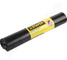 Мешки особопрочные, черные Comfort (10 шт; 240 л) для строительного мусора Stayer