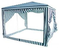 Тент-шатер 3.0м х3.0м автомат закрытый, сетка