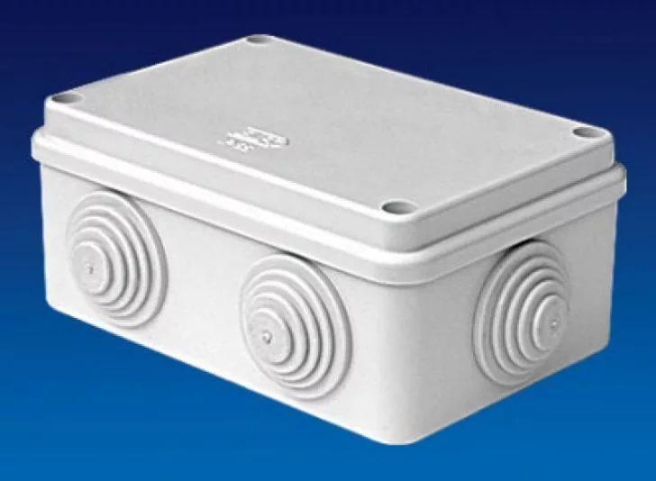 Коробка распаячная для подштукатурного монтажа с клемником и с крышкой УПрк 68/42.1.1