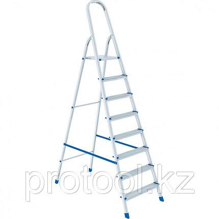 Стремянка, 8 ступеней, алюминиевая // СИБРТЕХ // Pоссия, фото 2