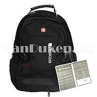 Городской рюкзак SWISSGEAR с дождевиком и USB портом черный 7230