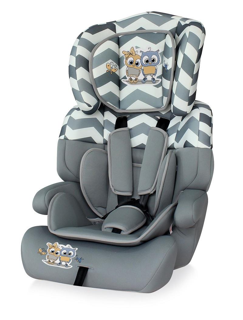 Автокресло Lorelli  Junior Plus 9-36 кг Серый / Grey BABY OWLS 1736