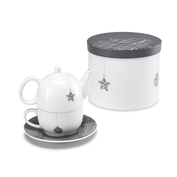 Новогодний Набор из заварного чайника и чашки