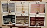 Подарочный набор бордовых полотенец для мужчин. Турция. , фото 2