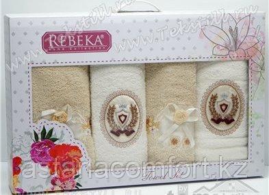 Набор махровых полотенец в подарочной упаковке. Турция, 4 шт.