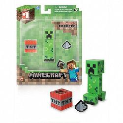 Minecraft 16503 Фигурка Creeper Крипер с аксесс. 8см