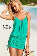 Ментоловое(зеленое) купальное платье Sexy Silm.
