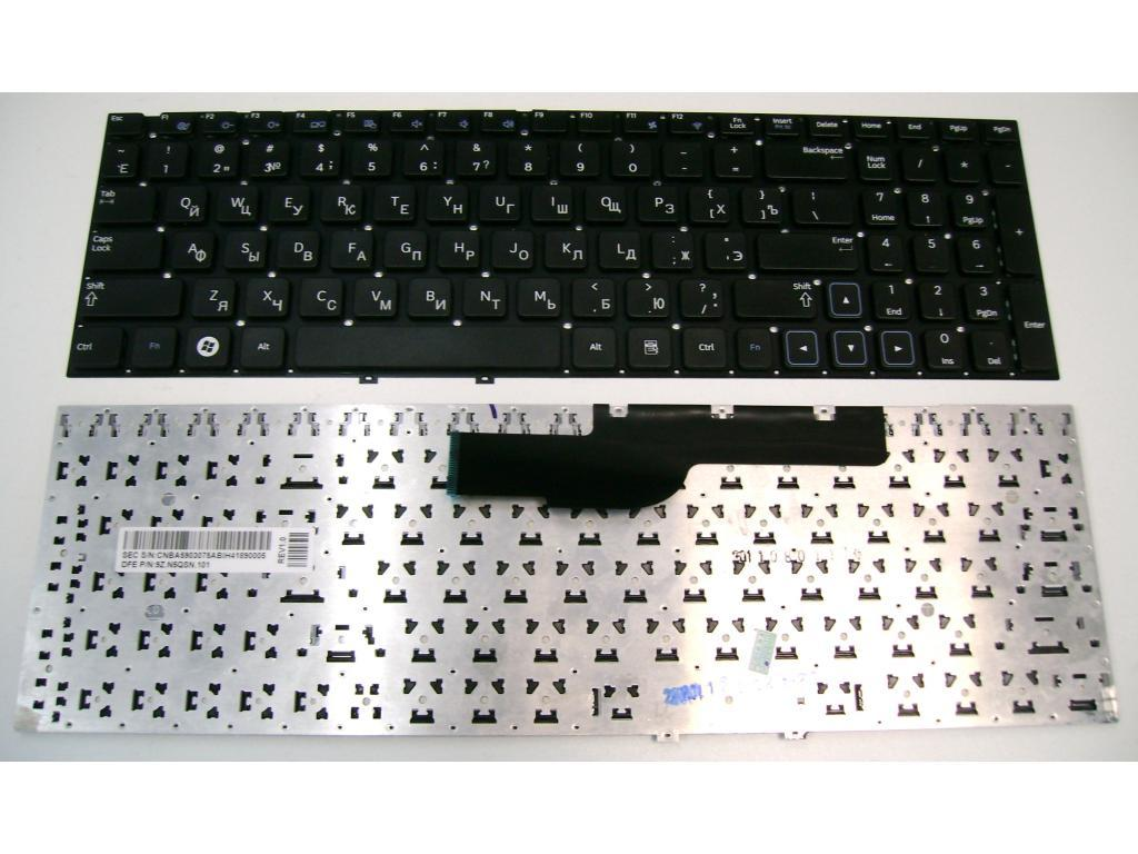 "Клавиатура для ноутбука Samsung 300E5A/ 300 series 15.6"", RU, черная"
