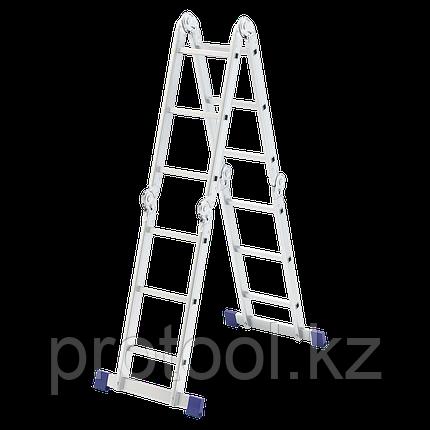 Лестница шарнирная алюминиевая, 4х3// Сибртех Россия, фото 2