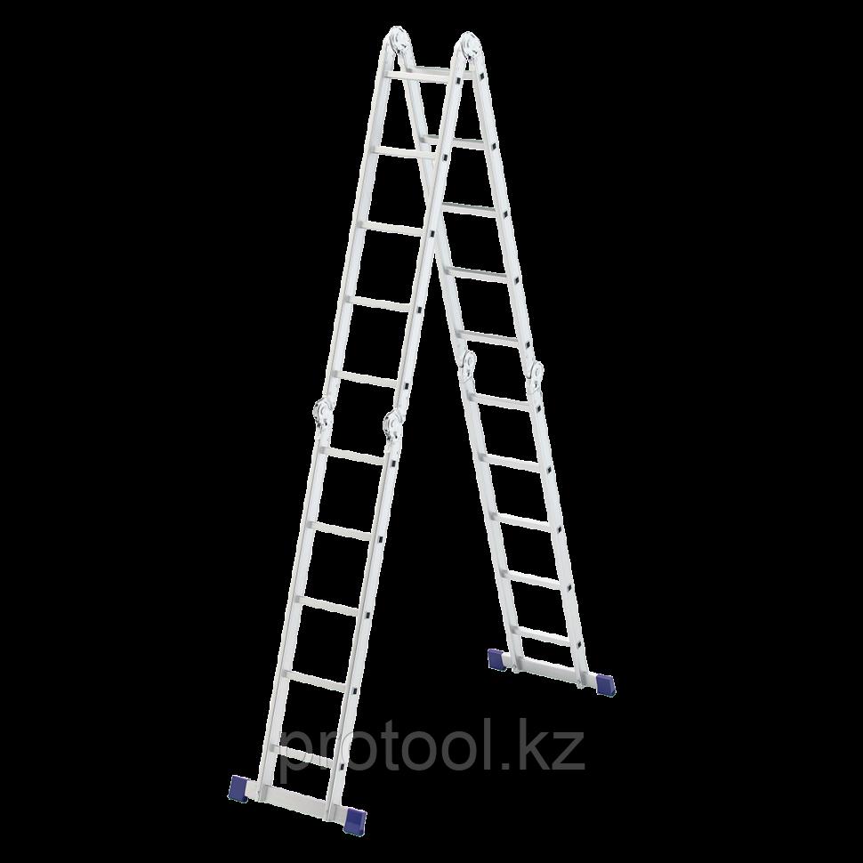 Лестница шарнирная алюминиевая, 4х5// Сибртех Россия