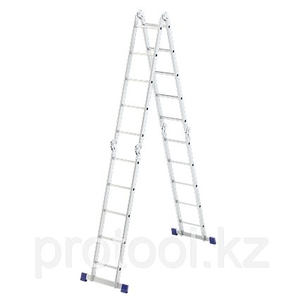Лестница шарнирная алюминиевая, 4х5// Сибртех Россия, фото 2