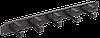 """ITK 19"""" металлический кабельный органайзер 2U, 5 колец, черный"""