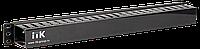 """ITK 19"""" пластиковый каб. органайзер с крышкой, 1U, чер"""