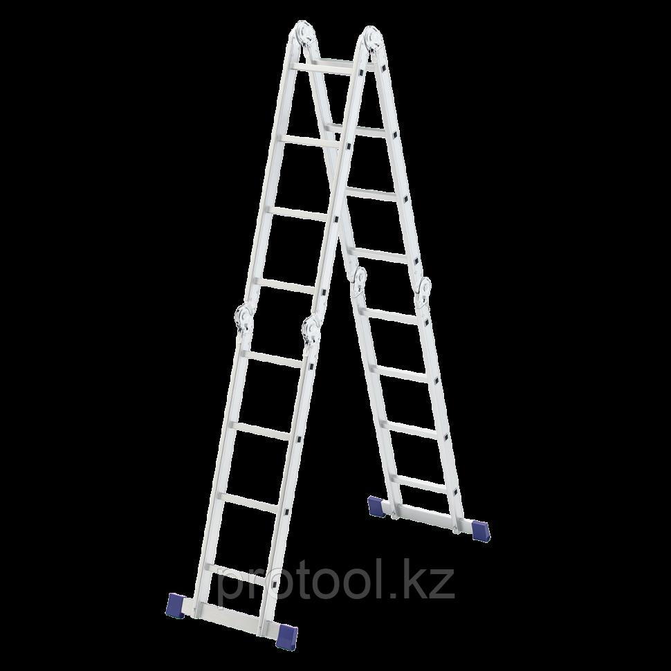 Лестница шарнирная алюминиевая, 4х4// Сибртех Россия