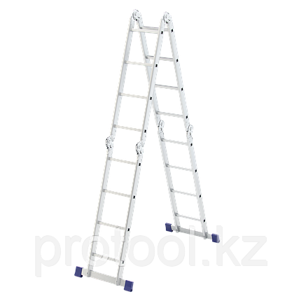 Лестница шарнирная алюминиевая, 4х4// Сибртех Россия, фото 2