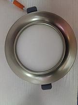 Светодиодный спот 5W  круглый, серебро, фото 3