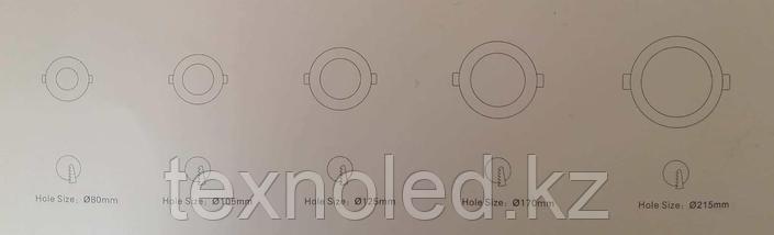 Светодиодный спот 15W  круглый, серебро, фото 3