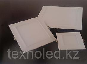 Светодиодный спот 12W  квадрат,черный, фото 3