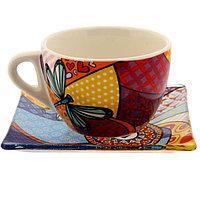 """Чайный набор кружка с блюдцем """"Любви и счастья"""", 150 мл, фото 1"""